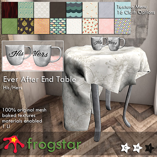 Frogstar - Ever After End Table Poster (His Hers)