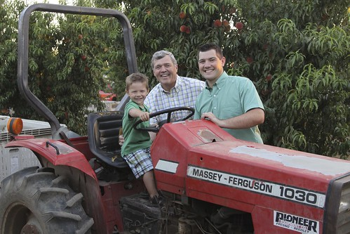"Bill Smittcamp (center), pictured here with his son, Blake, and grandson is president of Wawona Frozen Foods. ""USDA has always been very supportive and open to working with small business and the fruit and vegetable industry as a whole,"" said Smittcamp, ""They listen to our concerns and work with us. The ability to have a conversation with an organization like USDA gives us confidence in our ability to grow our business."""