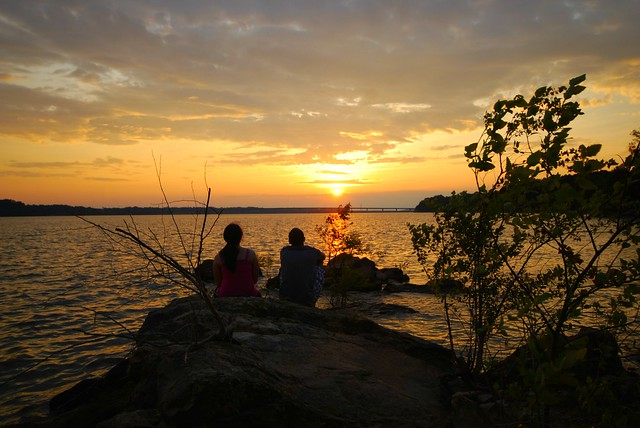 Romantic Sunsets at Occoneechee State Park in Virginia