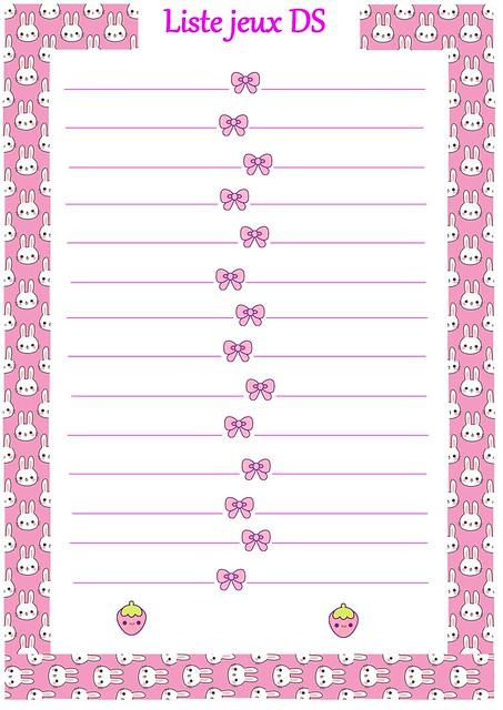 liste jeux ds girly et kawaï