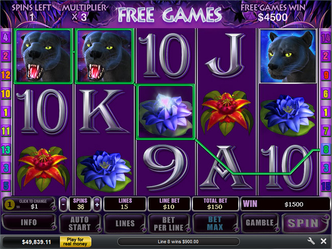 free Panther Moon slot bonus feature