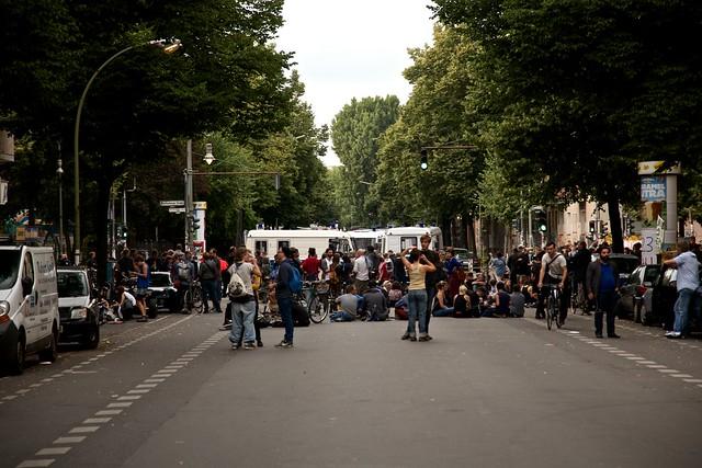 #Ohlauer Räumung / Protest 27.06.14 // Ohlauer / Reichenberger Straße