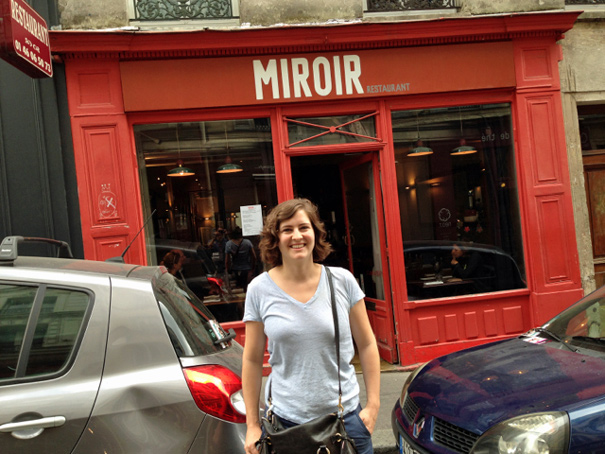 We 39 ll always have paris with meals at restaurant miroir for Restaurant miroir paris