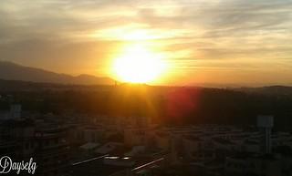 O por do sol...