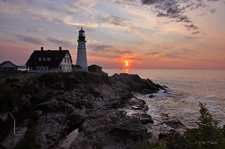 Portland Head Lighthouse Welcoming Sunrise
