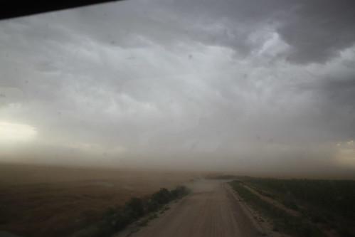 Dust flying all over!