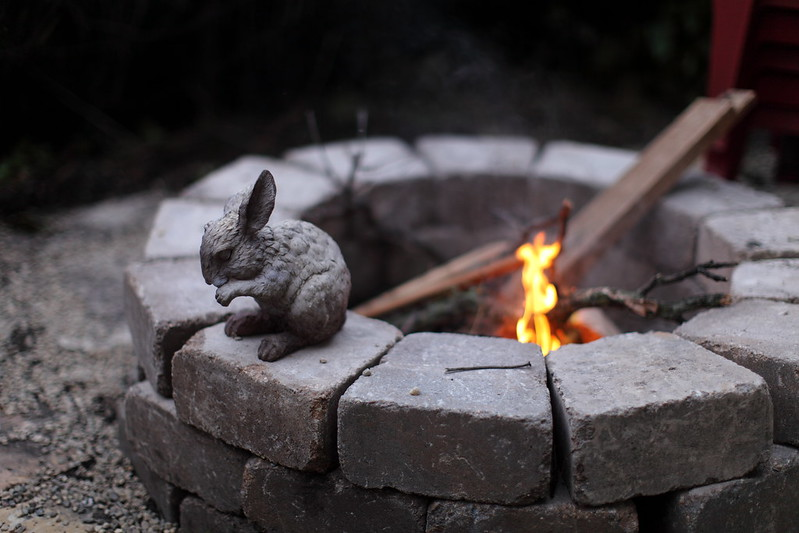 This poor fire bunny didn't survive the night