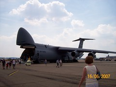 aviation, airplane, vehicle, cargo aircraft, military transport aircraft, jet aircraft, lockheed c-5 galaxy, air force,