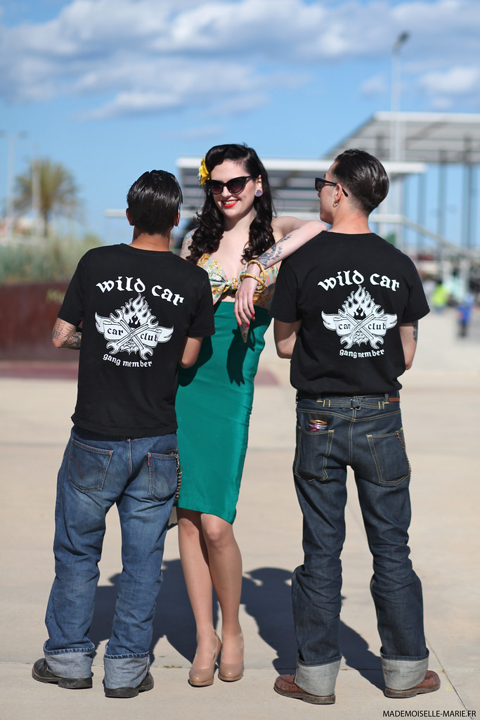 Pinup and Wild car, rockabilly Calafell
