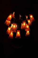 light fixture, yellow, light, chandelier, darkness, lighting,