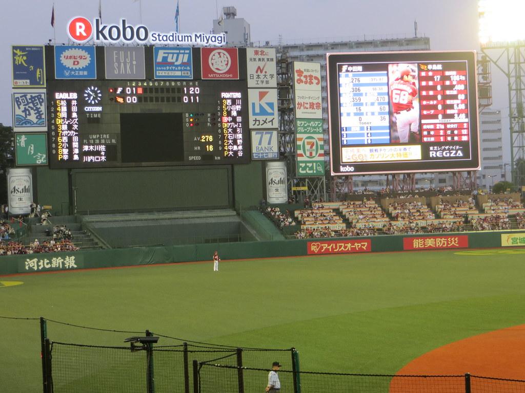 Scoreboard, Rakuten Kobo Stadium