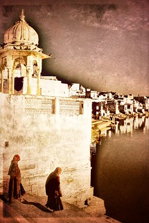 Hindu holy lake of Pushkar .. Rajasthan India
