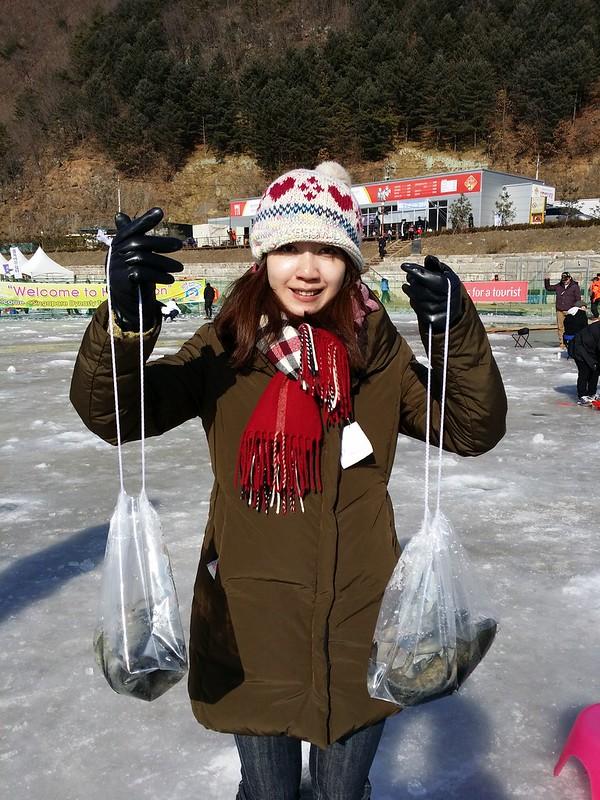 2014冬韓國華川冰釣山川魚