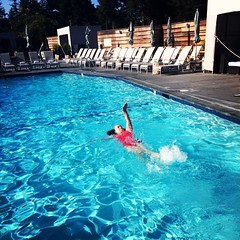 Early morning swim for the birthday girl. Happy birthday Karen! I love you!!