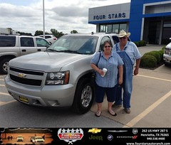 Congratulations to Jim and Juanita Pendergast on your #Chevrolet #Tahoe purchase from Dewayne  Aylor  at Four Stars Auto Ranch! #NewCar