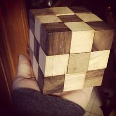 I did it!!! I did it!!! Finally!  #thecubewasdrivingmeinsane #woodpuzzlecube #yayme #imsohappy