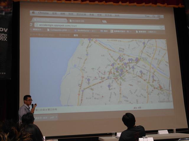 結合 Google Map 呈現交通事故狀態