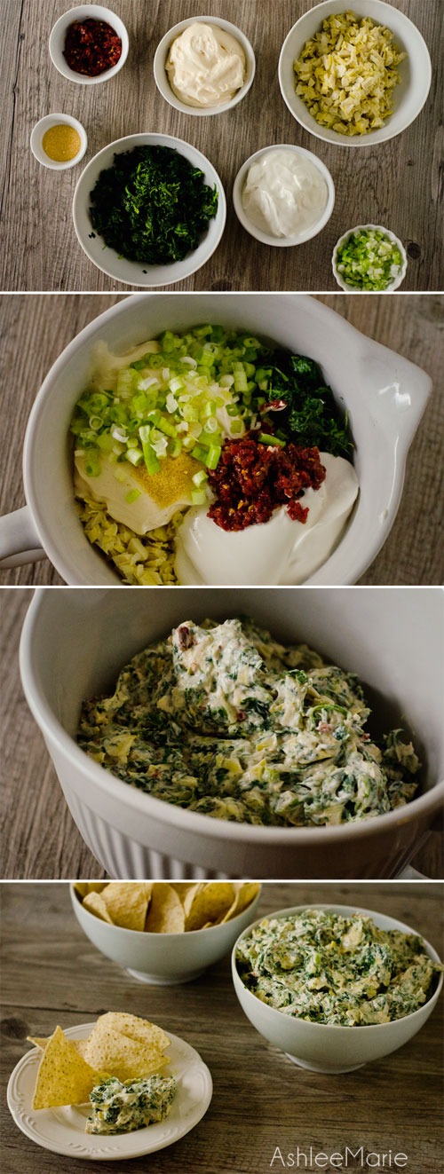 super simple sweet and tangy spinach dip