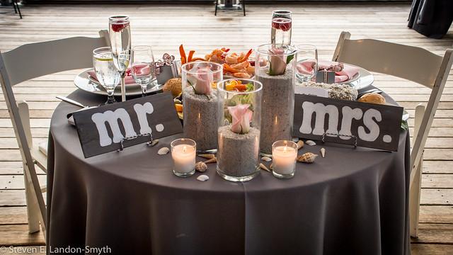 Beach Side Table: Mr. & Mrs.