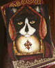 Catherine Aragon Original Cat painting