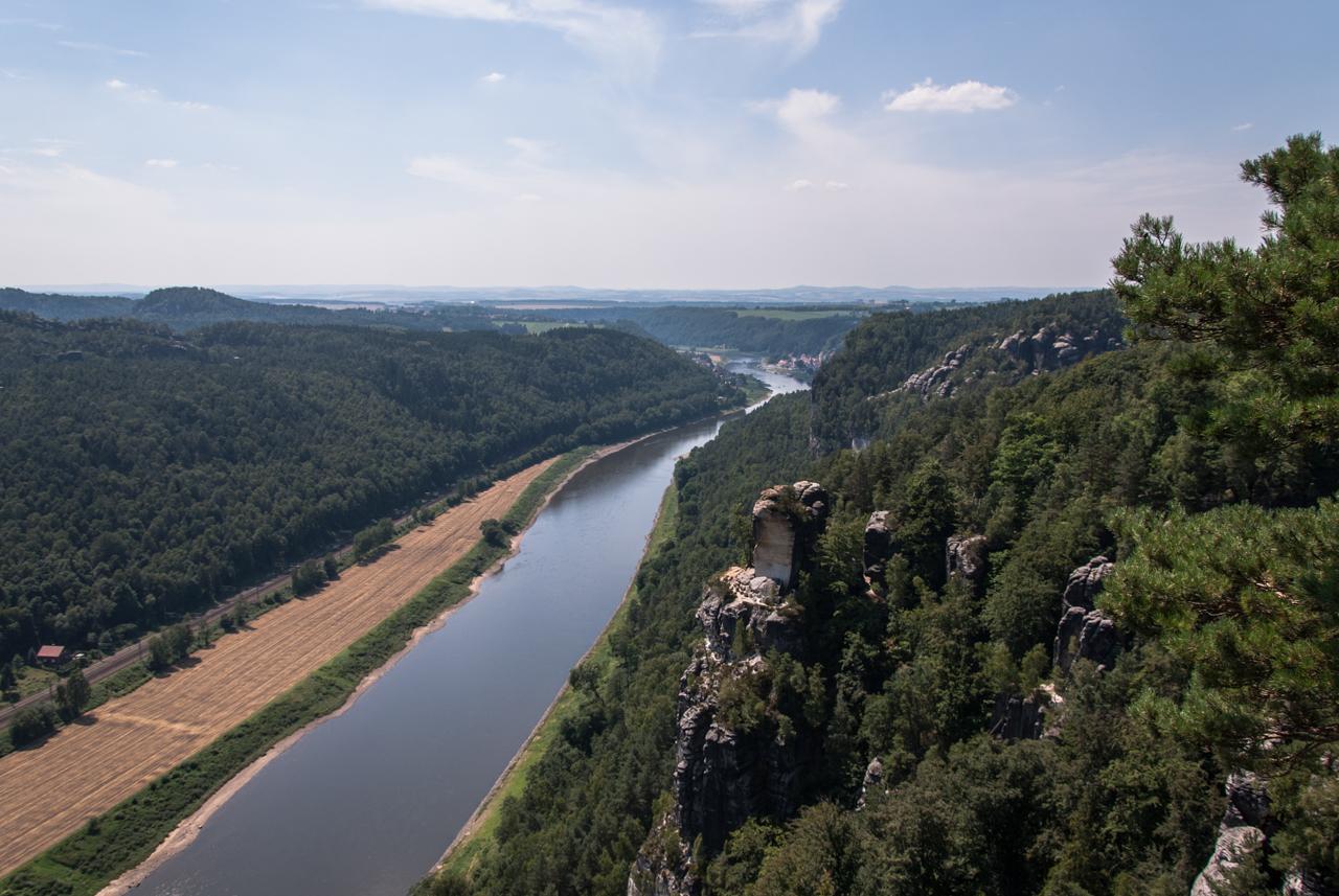 Elbe, Blickrichtung Dresden