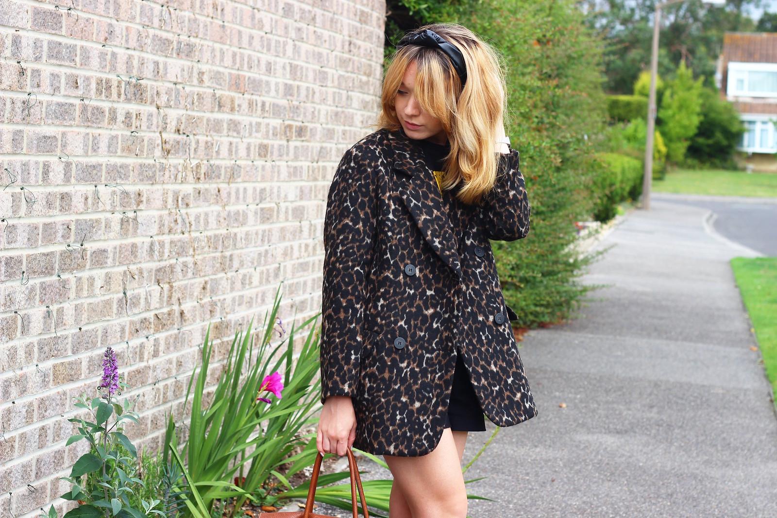 4leopardprintjacket, leopard print jacket h&m, outfit, retro, style