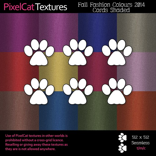 PixelCat Textures - Fall Fashion Colours 2014 - Cords Shaded