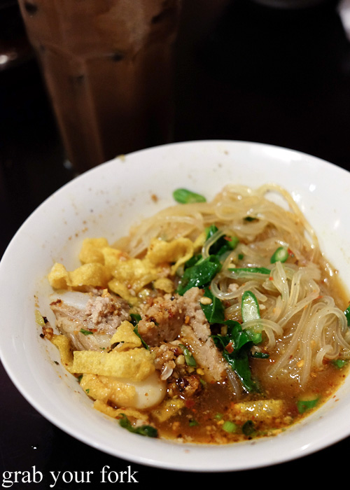 Do Dee Devil tom yum spicy noodle level 2 at Do Dee Paidang, Haymarket Chinatown Sydney