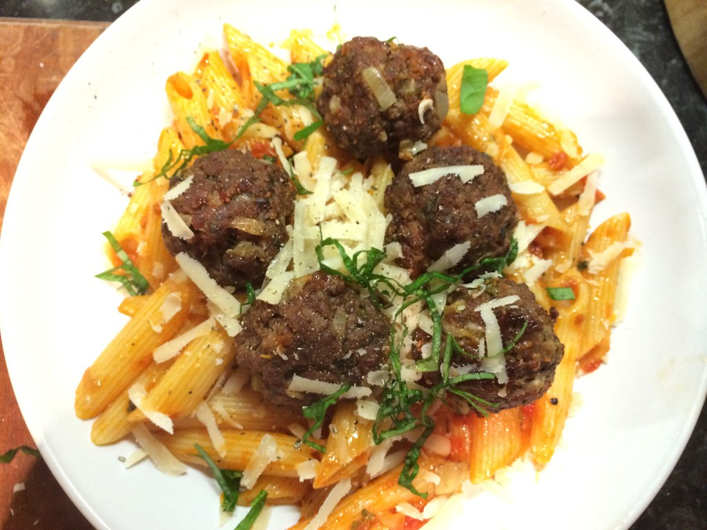 Spicy Meatballs with Herby Ragu : Another shot