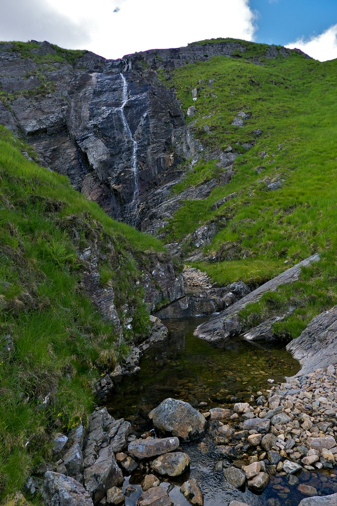 Waterfall below Coire na Muic