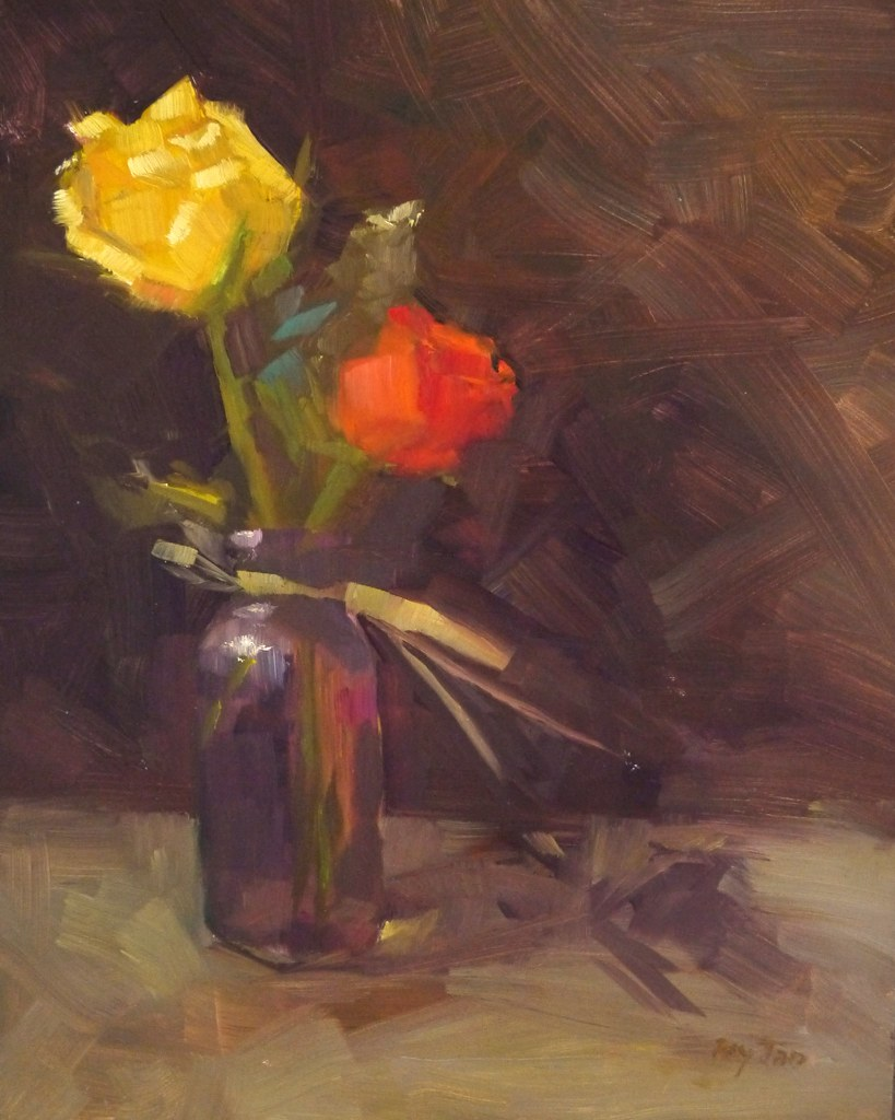 Two Roses (oil)