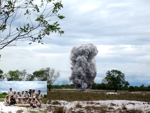 500lb U.S. bomb safely destroyed by RENEW teams