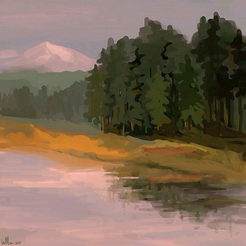 mountains river landscape