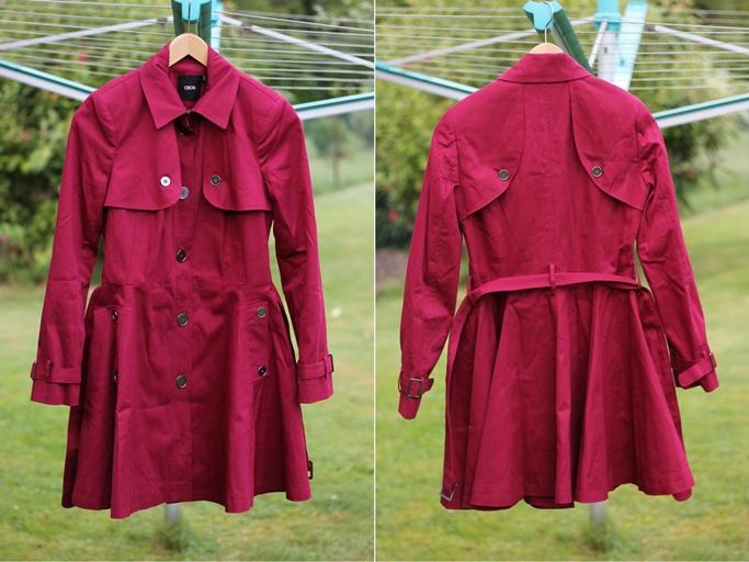 Asos trenchcoat rot - ausgestellter Trenchcoat Asos - Asos Skater Mac-tile