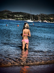Corsican girl on the beach ....