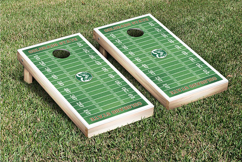 Colorado State University Rams Cornhole Game Set Football Field Version