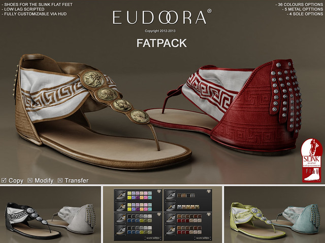 Eudora 3D Artemis Sandals (Slink Flats) Main FATPACK