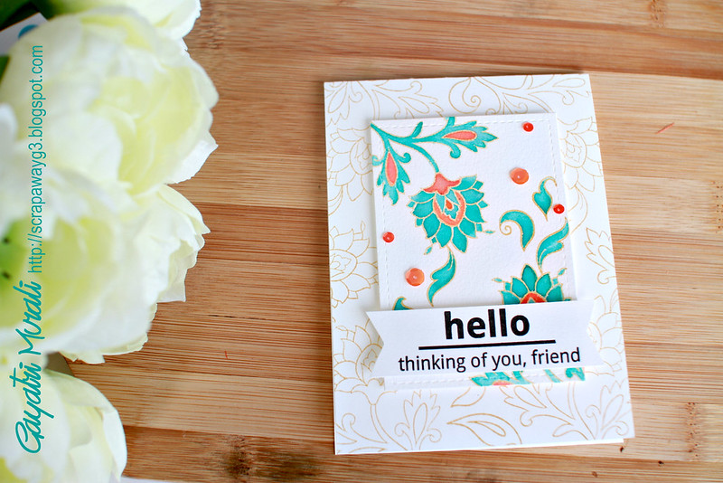 Hello card horizontal