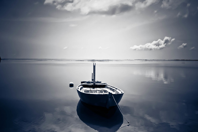 calmness of a day lighted B/W