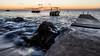 Last Sunrays on Batalie Bay