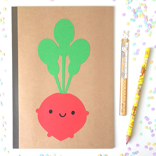 Happy Radish Paper-cut Notebook