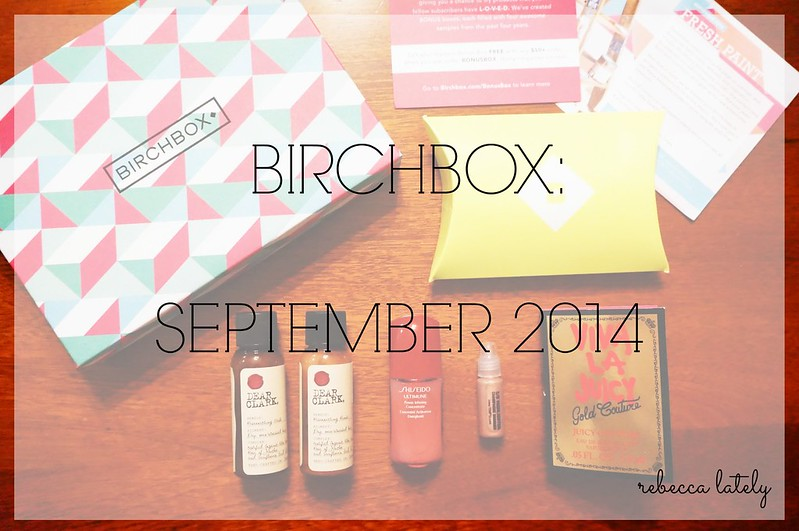Birchbox September 2014 1