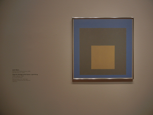 DSCN0383 _ Study for Homage to the Square_ Light Rising, 1950, altered 1959, Josef Albers, NGA at De Young