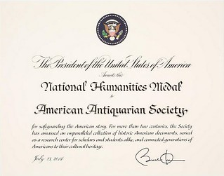 AAS National Humanities Medal citation