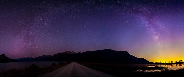 Milky Way Over Pitt Lake