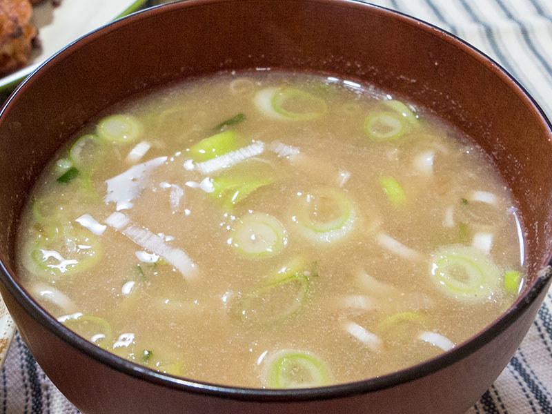 レンコンの味噌汁