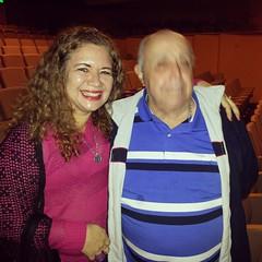 Com Mauro Mendonça em noite de teatro #TôGrávida #BlogAuroradeCinemaindica