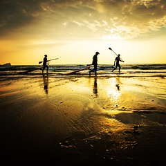 #Paddle #surfers enjoying the sunset at the? I@Gower #Península, #Wales , UK.   Www.pedropimentel.net