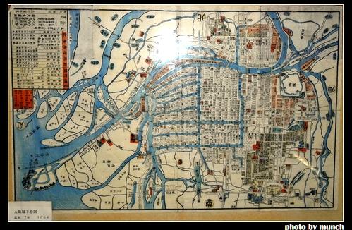 日本鄉土歷史博物館,一定有一張當地水文演變的地圖。圖片來源:munch