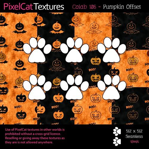 PixelCat Textures - Colab 106 - Pumpkin Offset